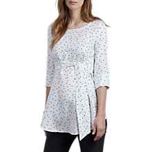 Buy Isabella Oliver Selina Star Print Tie Maternity Top, White Online at johnlewis.com