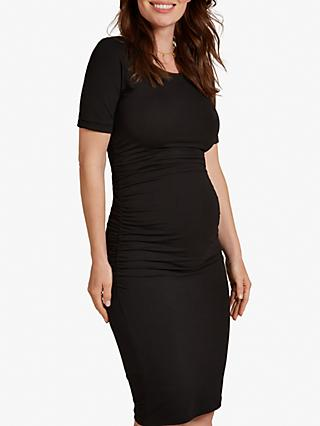 Isabella Oliver Ruched T-Shirt Dress, Black
