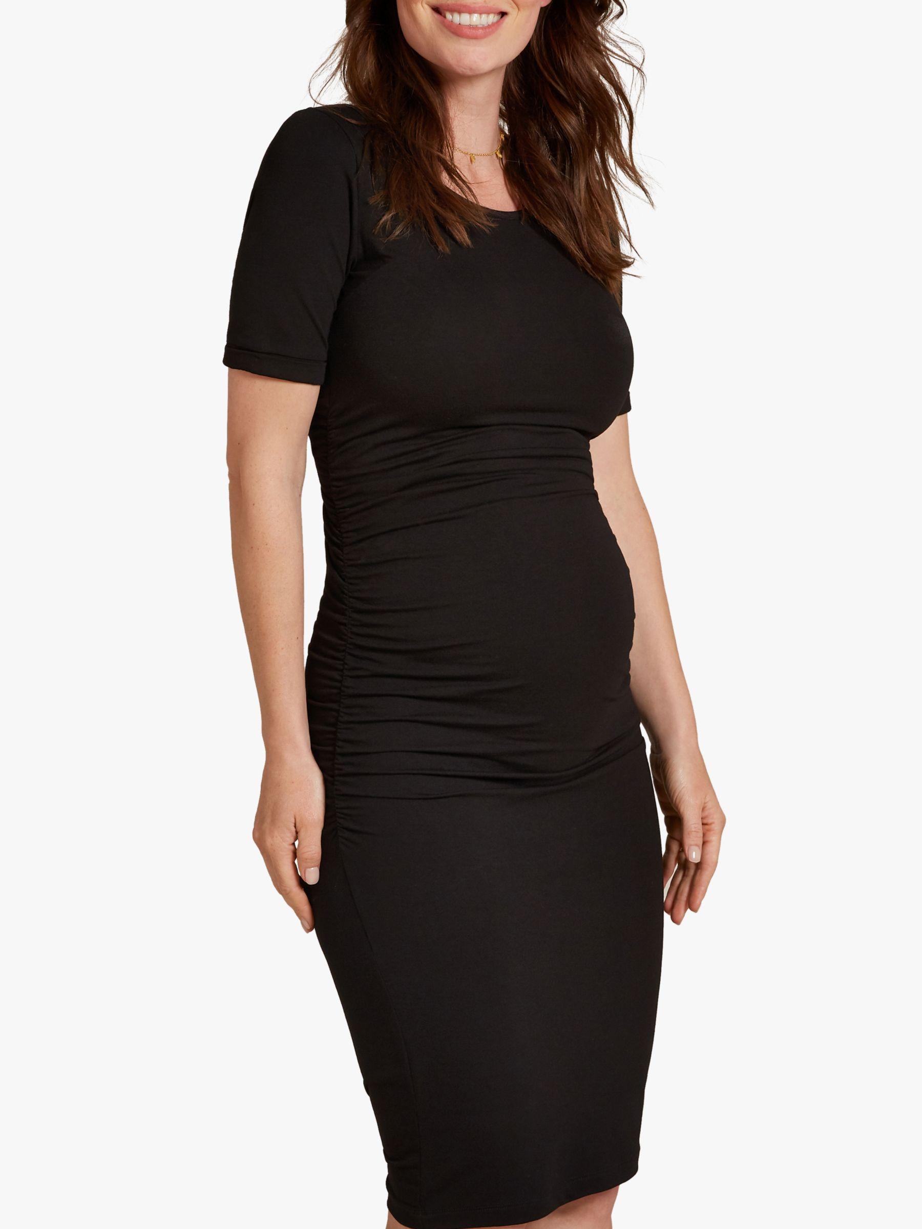 Isabella Oliver Isabella Oliver Ruched T-Shirt Dress, Black