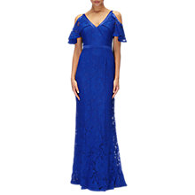 Buy Adrianna Papell Lace Mermaid Gown, Deep Sapphire Online at johnlewis.com