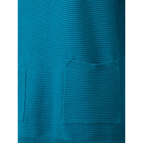 Buy East Horizontal Ribbed Jumper, Aqua Online at johnlewis.com