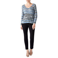 Buy Pure Collection Blurred Stripe Printed Gassato Jumper Online at johnlewis.com