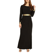 Buy Phase Eight Faber V Back Maxi Dress, Black/Gold Online at johnlewis.com
