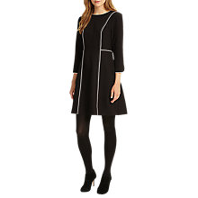 Buy Phase Eight Piper Piped Dress, Black/Ivory Online at johnlewis.com