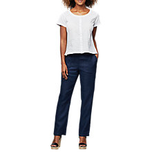 Buy East Linen Delave Trousers, Indigo Online at johnlewis.com