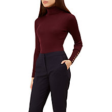 Buy Hobbs Lara Ribbed Roll Neck Jumper Online at johnlewis.com