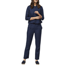 Buy East Linen Delave Jacket, Indigo Online at johnlewis.com