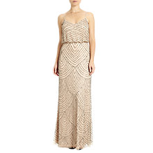 Buy Adrianna Papell Sleeveless Long Blouson Dress, Pink/Taupe Online at johnlewis.com
