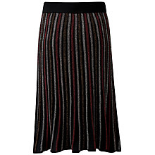 Buy Pure Collection Stripe Knitted Midi Skirt Online at johnlewis.com