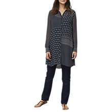Buy East Jamila Print Long Shirt Dress, Ink Online at johnlewis.com