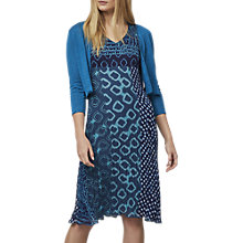 Buy East Paloma Print Pleated Dress, Aqua Online at johnlewis.com
