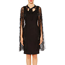 Buy Gina Bacconi Eve Floral Beaded Cape, Black Online at johnlewis.com
