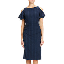 Buy Adrianna Papell Draped Sleeve Knitted Sheath Dress, Navy Online at johnlewis.com