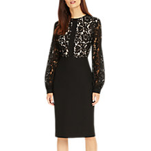 Buy Phase Eight Eviana Lace Bodice Pencil Dress, Black Online at johnlewis.com