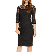 Buy Phase Eight Isadora Lace Dress, Black/Sapphire Online at johnlewis.com