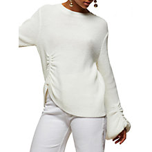 Buy Miss Selfridge Balloon Sleeve Jumper, Cream Online at johnlewis.com