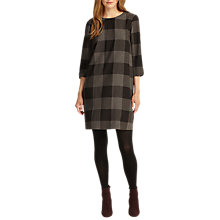 Buy Phase Eight Check Swing Tunic Dress, Charcoal Online at johnlewis.com