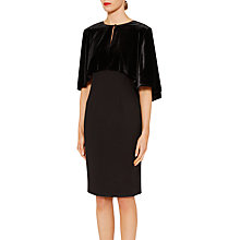 Buy Gina Bacconi Jodie Velvet Cape Jacket, Black Online at johnlewis.com
