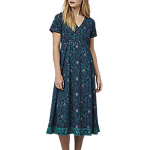 Buy East Handblock Print Miriam Dress, Indigo Online at johnlewis.com