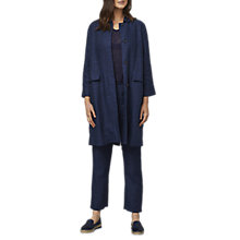 Buy East Linen Delave Duster Coat, Indigo Online at johnlewis.com