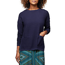 Buy East Horizontal Ribbed Jumper, Ink Online at johnlewis.com