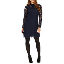 Buy Phase Eight Romano Lace Tunic Dress, Navy Online at johnlewis.com