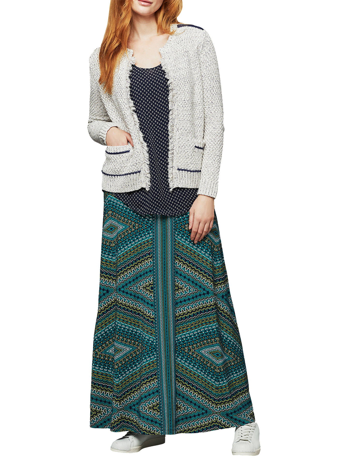 BuyEast Slub Cropped Cardigan , Calico, S Online at johnlewis.com