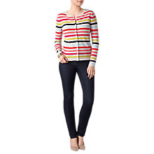 Buy Pure Collection Crew Neck Cashmere Jumper, Multi Stripe Online at johnlewis.com