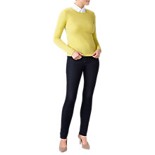 Buy Pure Collection Crew Neck Cashmere Jumper, Chartreuse Online at johnlewis.com