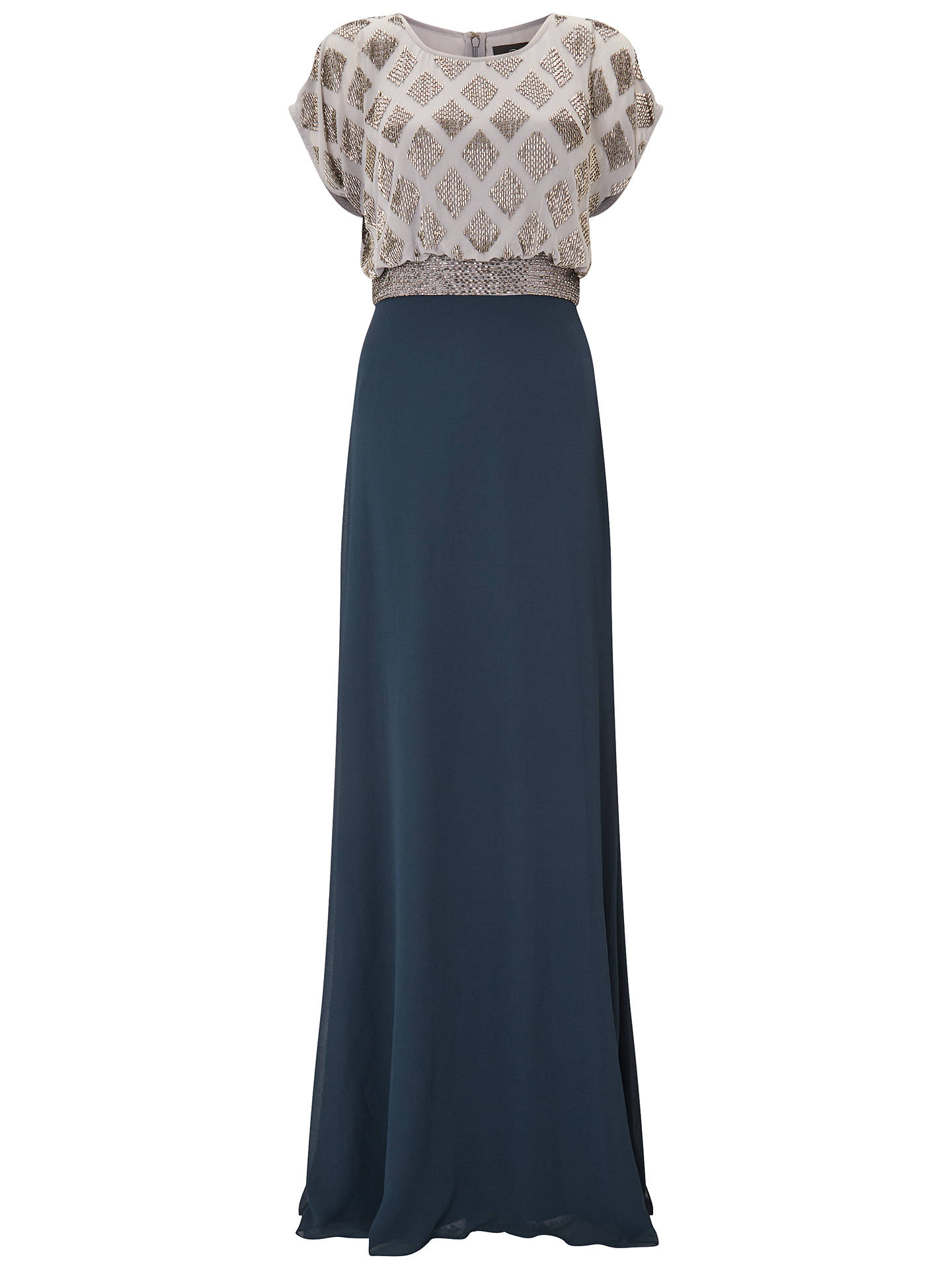 576b59c279bb ... Buy Adrianna Papell Plus Size Long Beaded Lace Bodice Dress,  Silver/Navy, 18