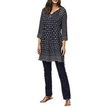 Buy East Jamila Print Tunic Dress, Ink Online at johnlewis.com