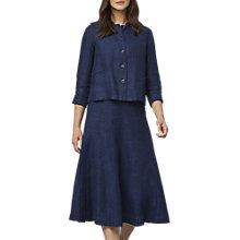 Buy East Linen Delave Skirt, Indigo Online at johnlewis.com