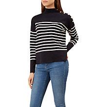 Buy Hobbs Marina Stripe Jumper, Navy/Ivory Online at johnlewis.com