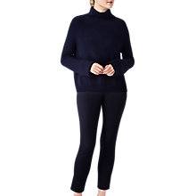 Buy Pure Collection Relaxed Rib Funnel Neck Jumper Online at johnlewis.com
