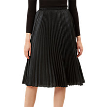 Buy Hobbs Malin Pleated Skirt, Metallic Charcoal Online at johnlewis.com