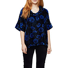 Buy East Anna Top, Indigo/Blue Online at johnlewis.com
