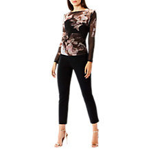 Buy Coast Emily Printed Mesh Long Sleeve Top, Multi Online at johnlewis.com