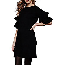 Buy Yumi Fluted Sleeve Knitted Dress, Black Online at johnlewis.com