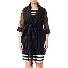 Buy Adrianna Papell Short Sleeve Organza Wrap Jacket, Black Online at johnlewis.com