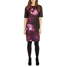 Buy Phase Eight Davina Print Dress, Deadly Nightshade Online at johnlewis.com