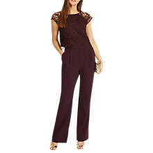 Buy Phase Eight Cortine Jumpsuit, Fig Online at johnlewis.com