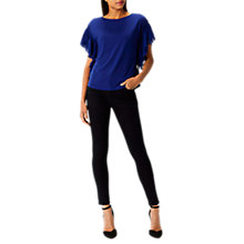 Buy Coast Delphine Frill Top, Cobalt Blue Online at johnlewis.com