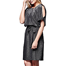 Buy Yumi Metallic Cold Shoulder Dress, Black Online at johnlewis.com