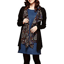 Buy Yumi Waterfall Cardigan, Black Online at johnlewis.com