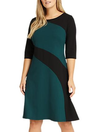 Studio 8 Alicia Dress, Green/Black