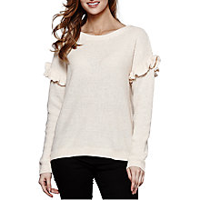 Buy Yumi Seed Stitch Frill Jumper, Ivory Online at johnlewis.com