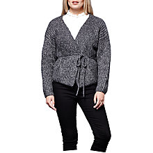 Buy Yumi Curves Tie Waist Jacket, Dark Grey Online at johnlewis.com