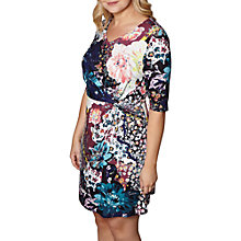 Buy Yumi Curves Floral Print Dress, Multi Online at johnlewis.com