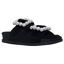 Buy Carvela Candy Embellished Buckle Sandals, Black Online at johnlewis.com