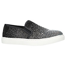 Buy Carvela Jamie Embellished Slip On Trainers, Black Online at johnlewis.com